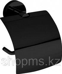 Держатель туалетной бумаги с крышкой 104112010 DARK Bemeta