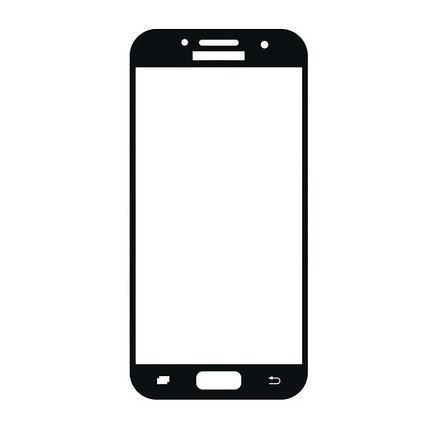 Защитное стекло Samsung A3 2017, A320 2017, Окантовка Black A-Case, фото 2