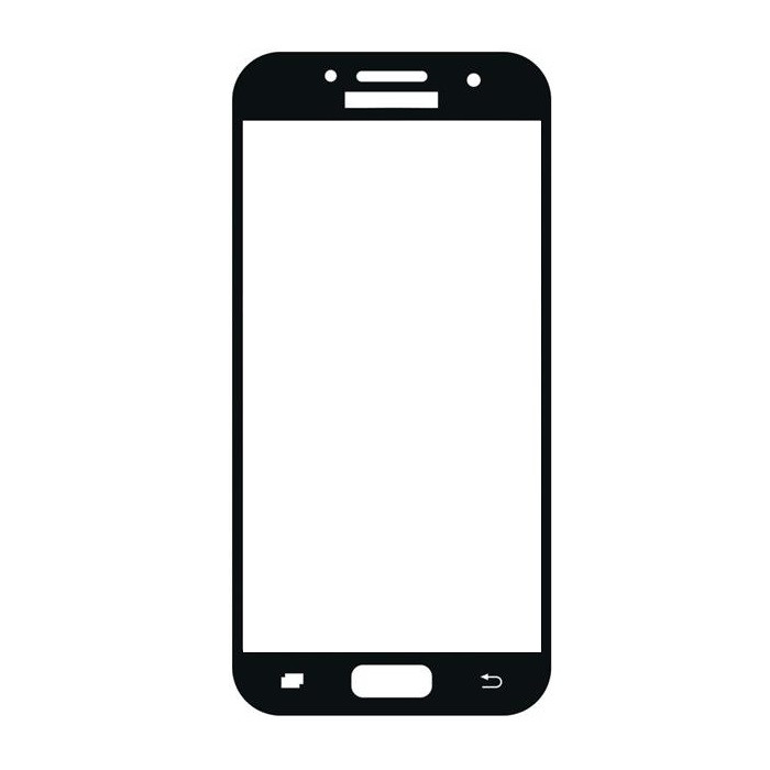 Защитное стекло Samsung A3 2017, A320 2017, Окантовка Black A-Case