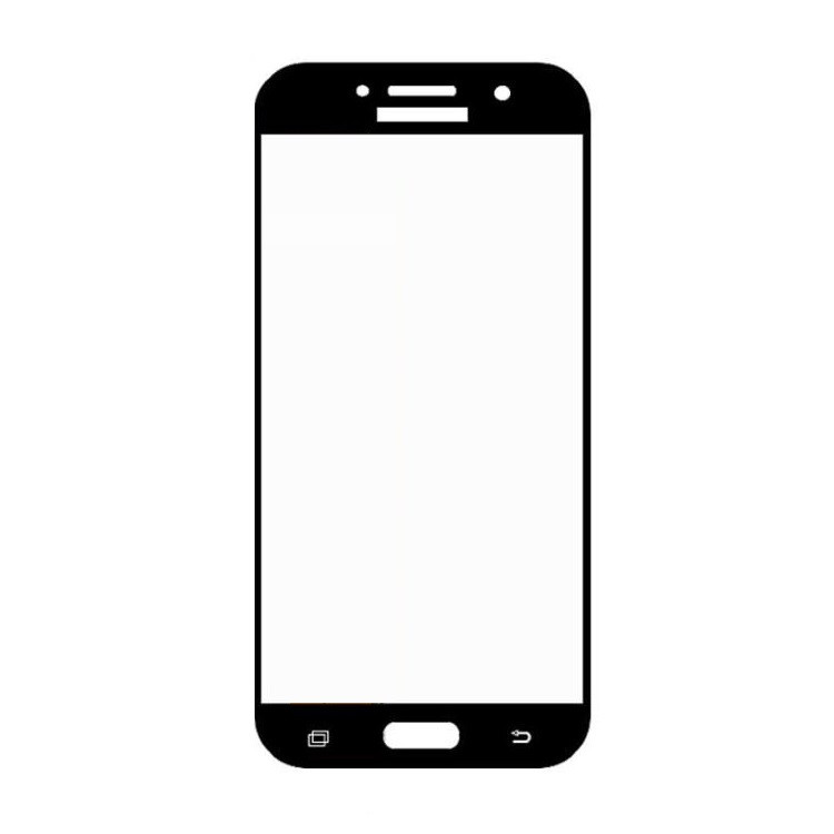 Защитное стекло Samsung A5 2017, A520 2017, Окантовка Black A-Case