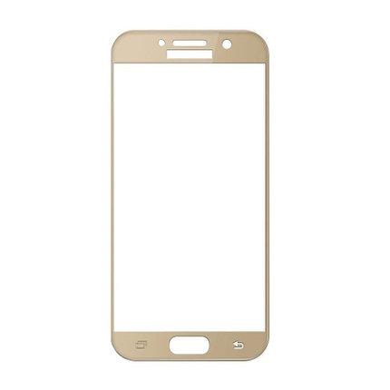 Защитное стекло Samsung A3 2017, A320 2017, Окантовка Gold A-Case, фото 2
