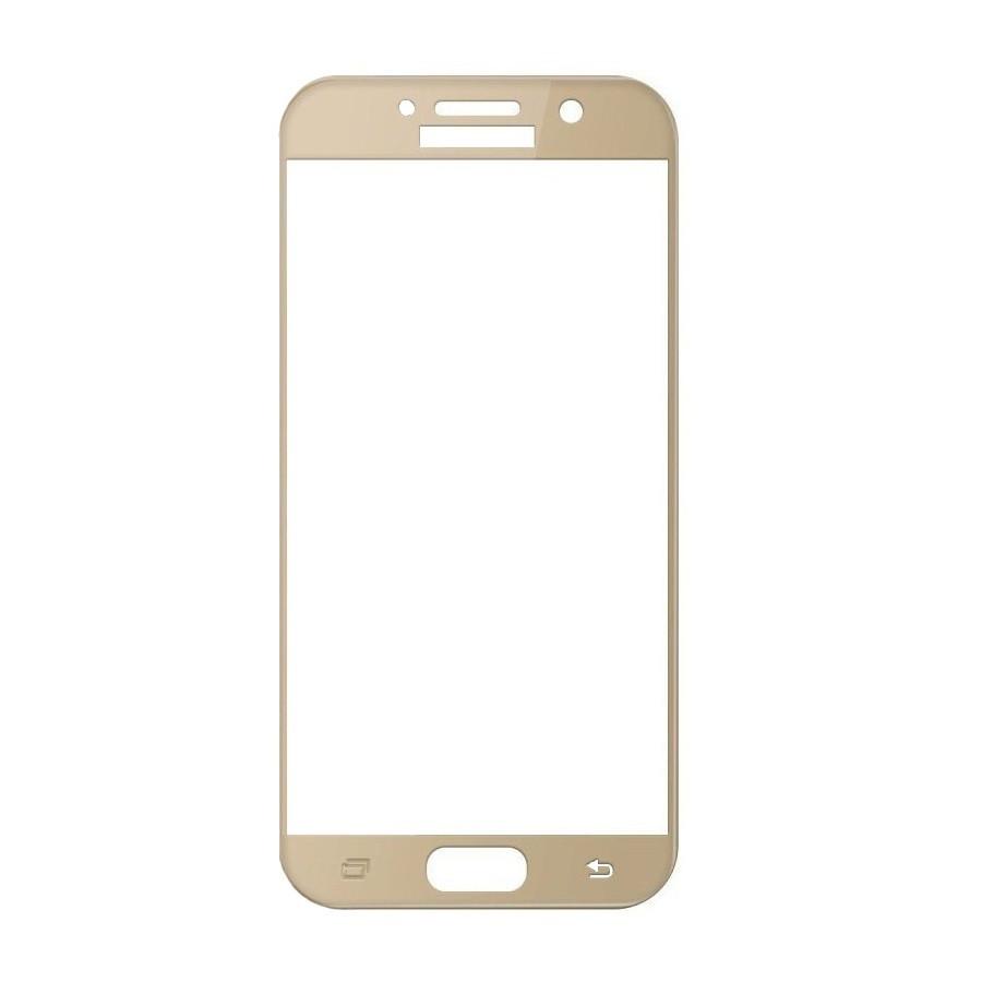 Защитное стекло Samsung A3 2017, A320 2017, Окантовка Gold A-Case
