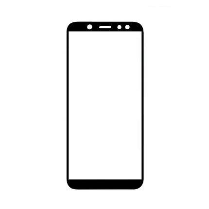 Защитное стекло Samsung A6 2018, Samsung A600, Окантовка Black A-Case, фото 2