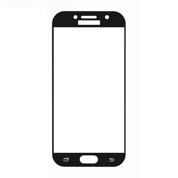 Защитное стекло Samsung A7 2017, A720 2017, Окантовка Black A-Case