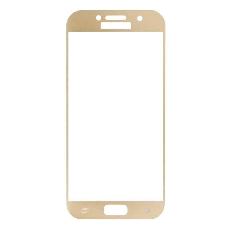 Защитное стекло Samsung A7 2017, A720 2017, Окантовка Gold A-Case
