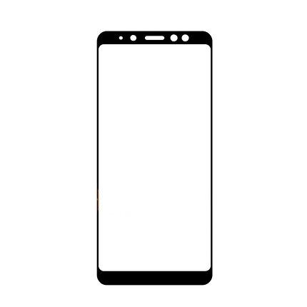 Защитное стекло Samsung A8 2018, A530 2018, Окантовка Black A-Case, фото 2