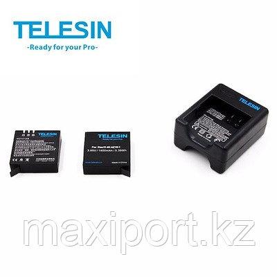 Комплект для камеры telesin kit yi 4k 4k+ xiaomi 2 батареи и зарядка