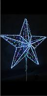 Макушка на Елку Звезда 5 (с нитью) - 3D ST 31-1