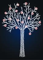 Новогоднее светящееся дерево 2,5 метра - SP 12