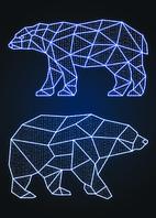 Новогодний световой Медведь 1 шт - SP 03