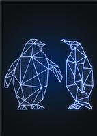 Новогодний световой Пингвин 1шт - SP 02