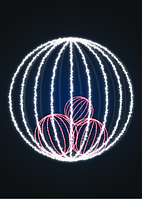 Новогодний уличный шар 2,5 метра - SP 15