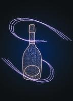 Новогодняя декорация Бутылка - MS 22