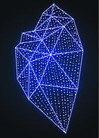 Новогодняя конструкция Сердце - SP 07
