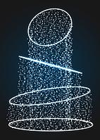 Новогодняя световая декорация Круги - FON 14