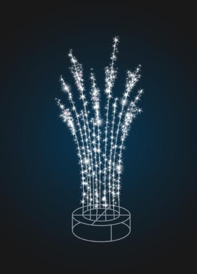 Новогодняя фигура Световой куст - 3D SE 50