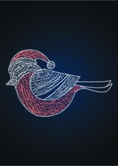Новогодняя фигура Снегирь - SP 16