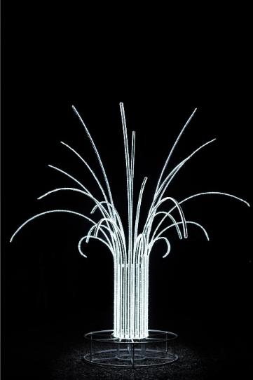 Световая декорация Пальма (дюралайт) - 3D SE 46-2