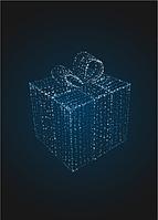 Световая декорация Подарок 1м (только из гирлянд) - 3D SE 49-2