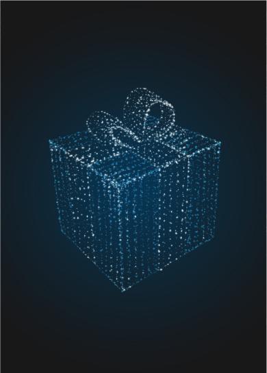 Световая декорация Подарок 50 см (только из гирлянд) - 3D SE 49