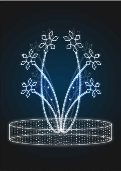 Световая конструкция Снежинки - FON 17