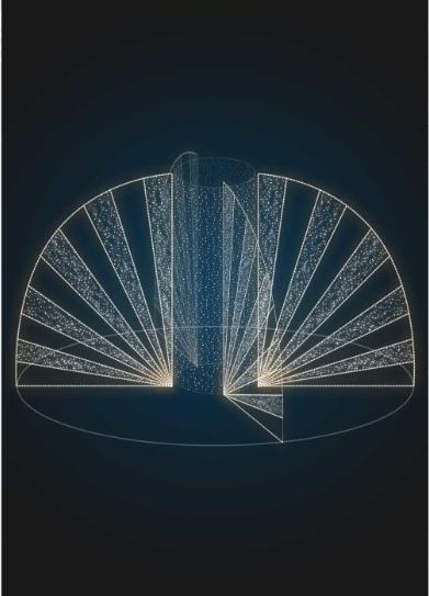 Световая новогодняя композиция Веер - FON 23