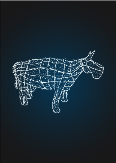 Световая фигура Корова, каркас - OL 103