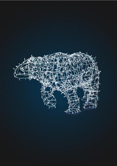 Световая фигура Медведь, каркас 1,7м - OL 100