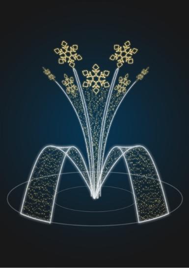 Световая фигура фонтан Салют - FON 18