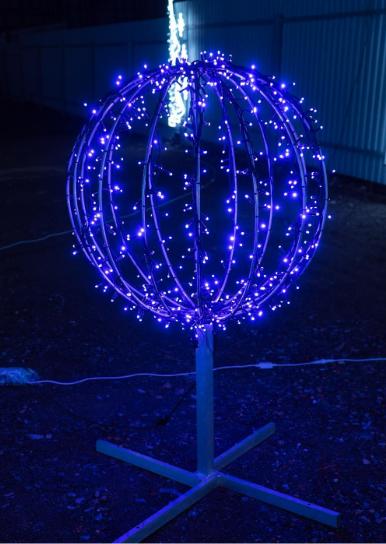 Световой шар из светодиодных гирлянд 50 см - 3D ST 33-50
