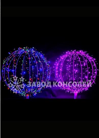 Световой шар из светодиодных гирлянд 75 см - 3D ST 33-75