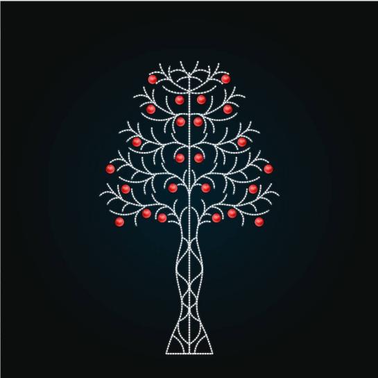 Светодиодное дерево - Яблоня 2 метра - SP 18