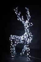 Светящийся олень в мишуре, серия 2,3 м, динамика - OL 32