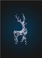 Светящийся олень в мишуре, серия 2,8м, динамика - OL 35