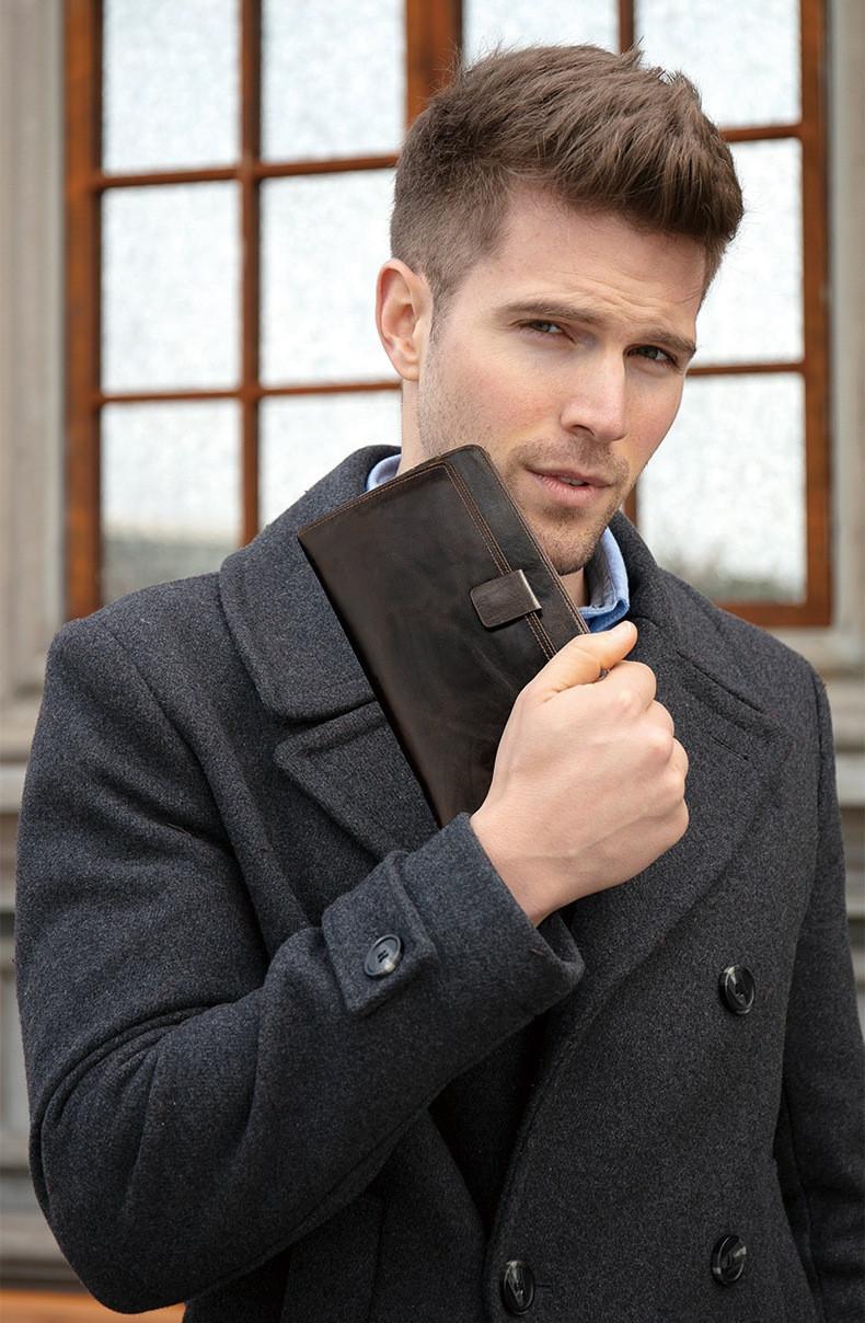 Классный кожаный клатч Marrant Leather. Очень вместительный. Рассрочка. Kaspi RED
