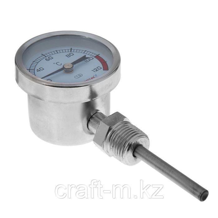 Термометр биметаллический, радиальный 0-120С