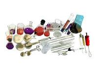 Набор химической посуды и принадлежностей для лабораторных работ