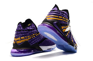 """Баскетбольные кроссовки Nike Lebron 17 (XVII ) """"LA Lakers"""" sneakers from LeBron James, фото 2"""