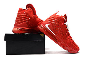 "Баскетбольные кроссовки Nike Lebron 17 (XVII ) ""Red"" sneakers from LeBron James, фото 3"