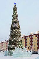 Уличная сегментная Елка каркасного типа высотой 23,5 метров для площади