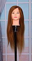 Голова-манекен русо-рыжий волос натуральный животный Як (100%) - 60 см
