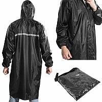 Плащ - дождевик светоотражающий, черный., фото 1