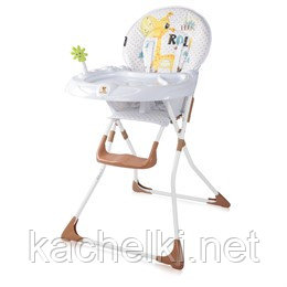 Детский стульчик для кормления Lorelli Jolly (Бело - бежевый/WHITE&BEIGE GIRAFFE 1925)