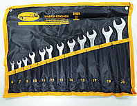 Набор рожково-накидных ключей, матовые, 6-22мм, 12шт. АвтоДело