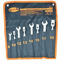 Набор рожково-торцевых ключей, матовые, 8-19мм, 8шт. АвтоДело