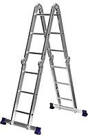 Лестница-трансформер СИБИН алюминиевая 4x3 ступени
