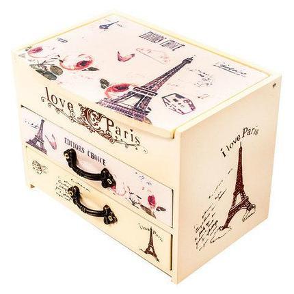 Шкатулка для украшений в винтажном стиле «Из Парижа с любовью», фото 2