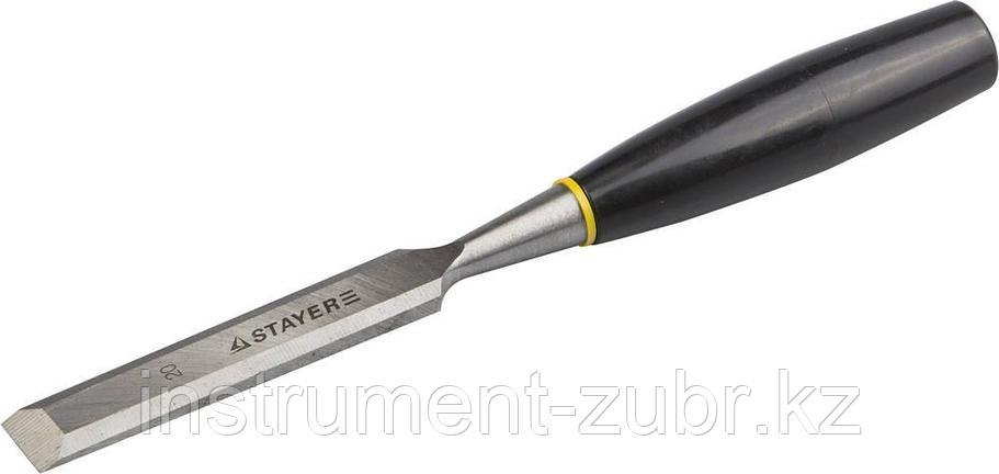 """Стамеска """"ЕВРО"""" плоская с пластмассовой ручкой, 20мм, STAYER, фото 2"""