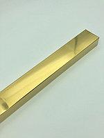 Труба квадратная 50*30 мм, золото, 3 метра, фото 1