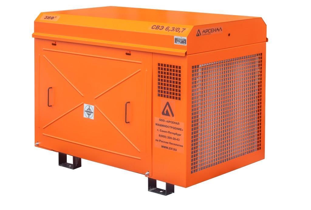 ЗИФ Станция компрессорная электрическая ЗИФ-СВЭ-6,3/0,7 в кожухе
